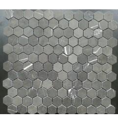 Pietra Grey Hexagon Honed Limestone Mosaic 25x25