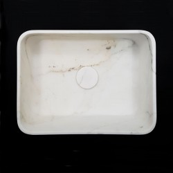 Calacatta Oro Honed Rectangle Marble Basin 3028