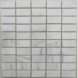 Bianca Luminous Polished Marble Mosaic Tile 60x30