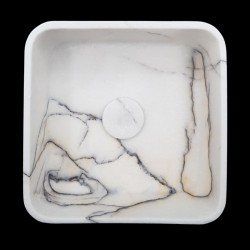 New York Honed Square Marble Basin 3092