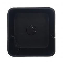 Nero Marquina Honed Square Marble Basin 3079