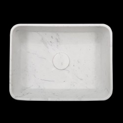 Carrara Honed Rectangle Marble Basin 3059