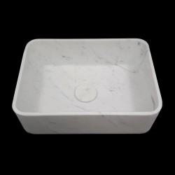 Carrara Honed Rectangle Marble Basin 3057