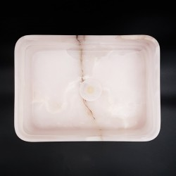 Pink Onyx Honed Rectangle Basin 3174