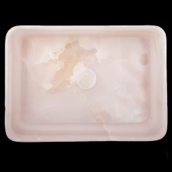 Pink Onyx Honed Rectangle Basin 3172