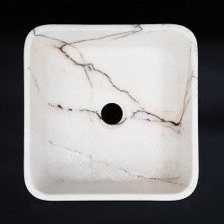 New York Honed Square Marble Basin 3090