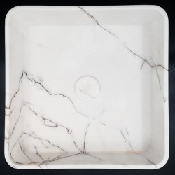 New York Honed Square Marble Basin 3087