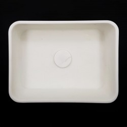 Calacatta Oro Honed Rectangle Marble Basin 3026