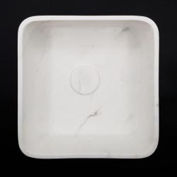 Calacatta Oro Honed Square Marble Basin 3018