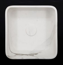 Calacatta Oro Honed Square Marble Basin 3017
