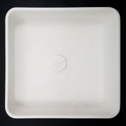 Calacatta Oro Honed Square Marble Basin 3015