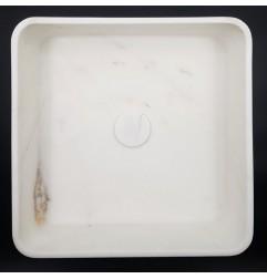 Calacatta Oro Honed Square Marble Basin 3014