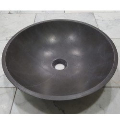 Pietra Grey Honed Round Basin Limestone