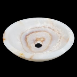 Onyx Polished Round Basin