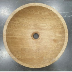 Noce Honed Round Basin Travertine