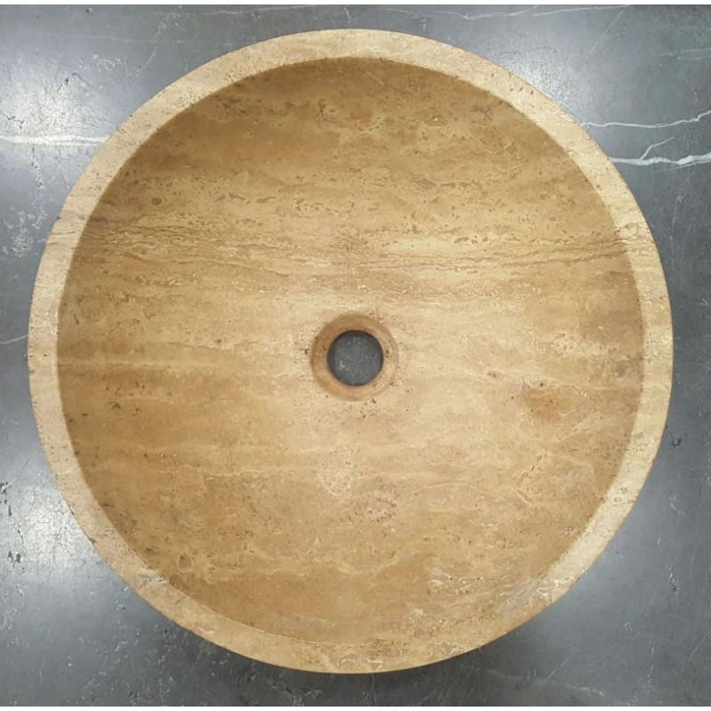 Noce Honed Round Basin Travertine
