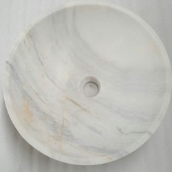 Bianca Luminous Polished Round Basin Marble