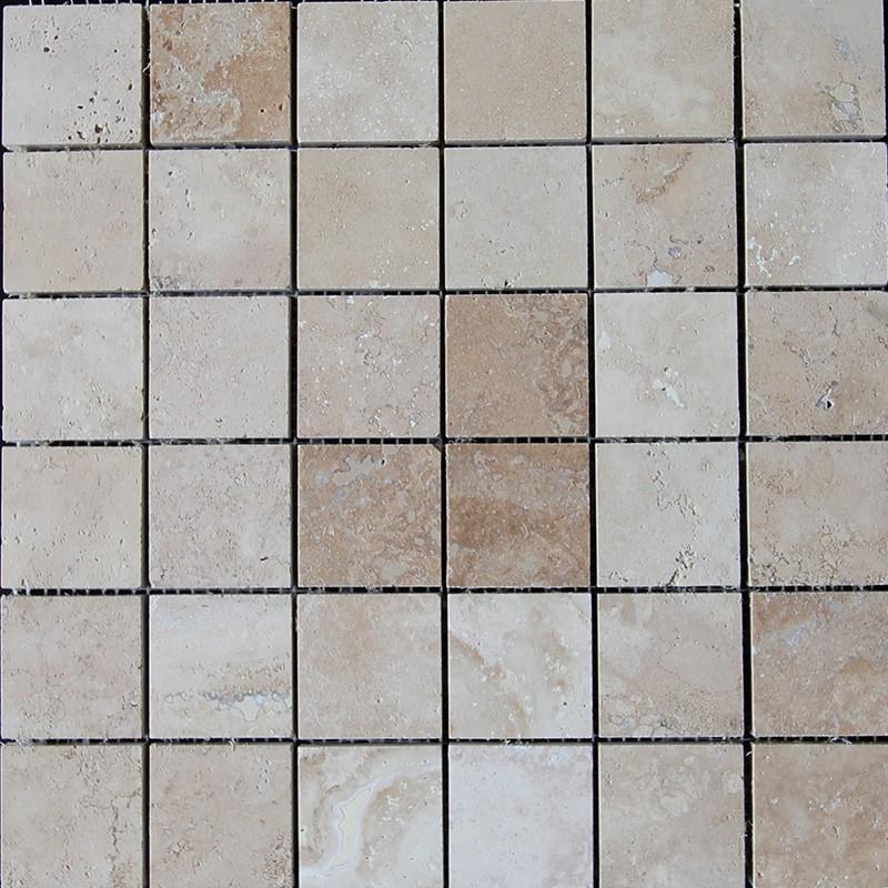 Travertine Classico Filled Honed Mosaic 50x50