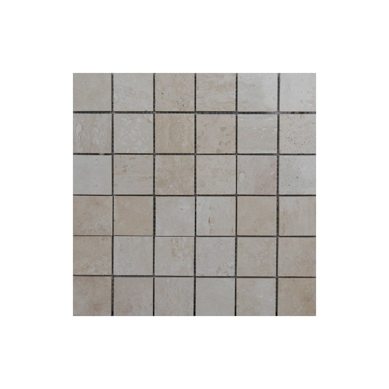 Travertine classico filled polished mosaic