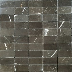 Pietra Grey Polished Limestone Mosaic 60x30