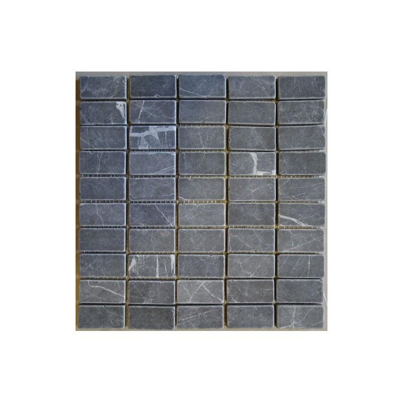 Pietra Grey Mosaic - Tumbled - 60x30|Sheet Size:308x316