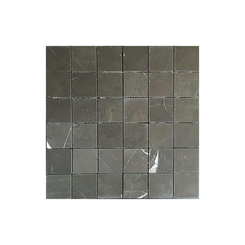 Pietra Grey Honed Limestone Mosaic 50x50
