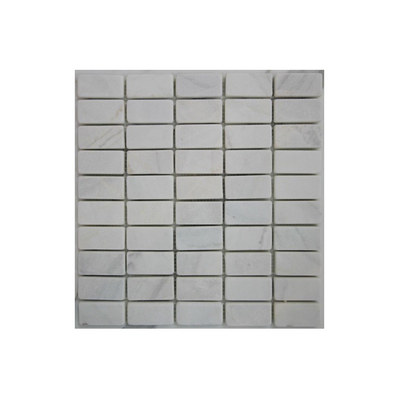 Bianca Luminous Marble Mosaic  Tumbled  60x30