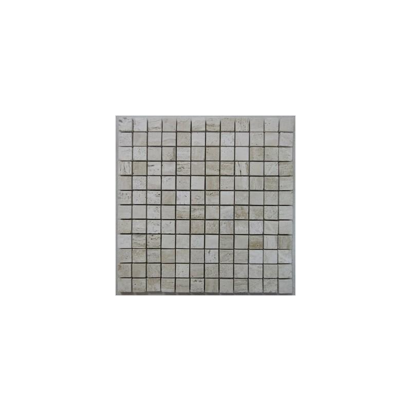 Travertine Silk Mosaic|Cross Cut|Epoxy Filled|Polished