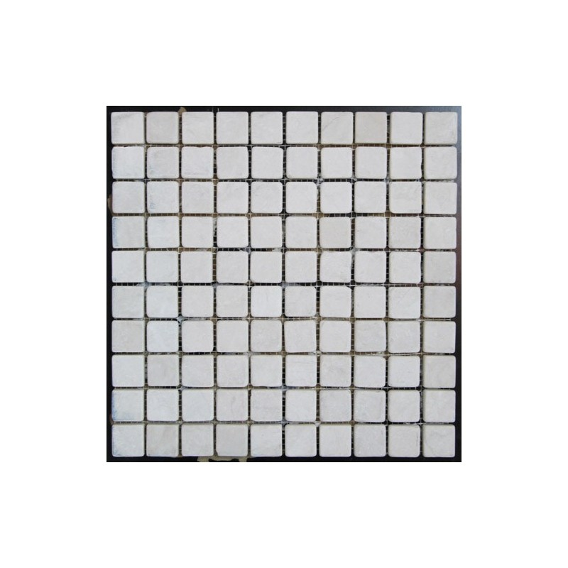 Bianca Perla Tumbled Limestone Mosaic 27x27