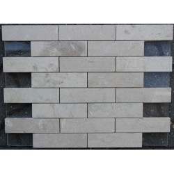 New Botticino Interlocking Mosaic Marble - Polished