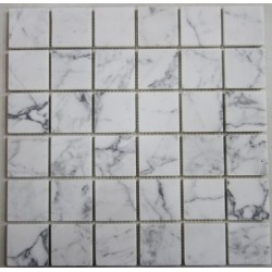 Calacatta Marble Mosaics|Honed|Sheeted