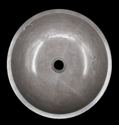 Pietra Grey Honed Round Basin Limestone 1595