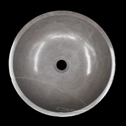 Pietra Grey Honed Round Basin Limestone 1597