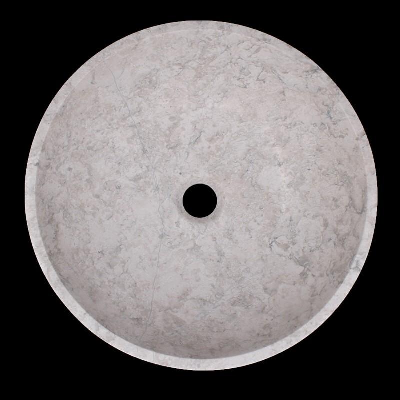 Bianca Perla Honed Round Basin Limestone 1542