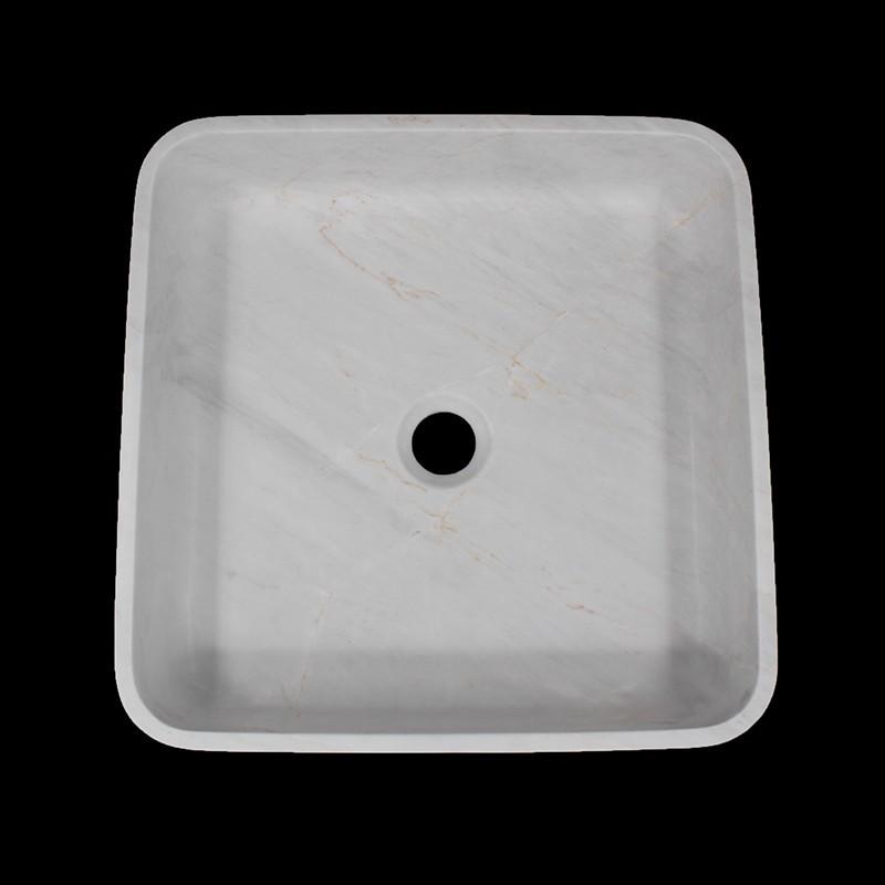 Bianca Luminous Honed Square Basin Marble 1506