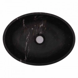 Black & Gold Polished Oval Basin Marble 1786