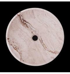 Silk Honed Round Basin Travertine 1767