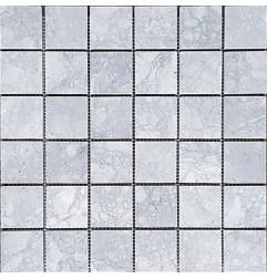 Super White Dolomite Honed Marble Mosaic 48x48