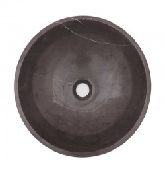 Pietra Grey Honed Round Basin Limestone 1702