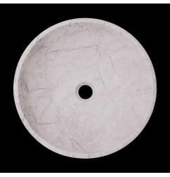 Bianca Perla Honed Round Basin Limestone 1708