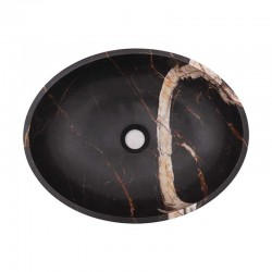 Black & Gold Honed Oval Basin Marble 2026
