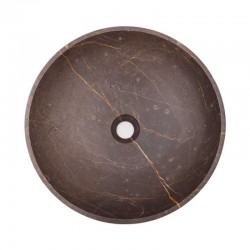 Grey & Gold Honed Round Marble 2077