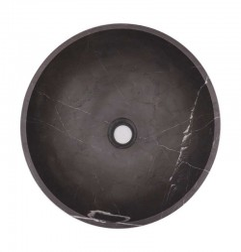 Pietra Grey Honed Round Basin Limestone 1914