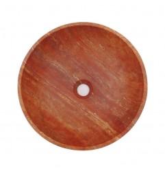 Rosso Honed Round Basin Travertine 1998
