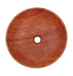 Rosso Honed Round Basin Travertine 1999