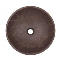 Grey & Gold Honed Round Basin Marble 2038