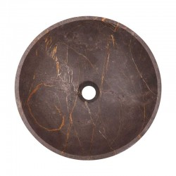 Grey & Gold Honed Round Basin Marble 2044