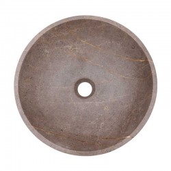 Grey & Gold Honed Round Basin Marble 2061