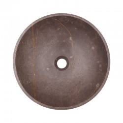 Grey & Gold Honed Round Basin Marble 2070