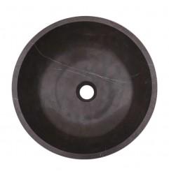 Pietra Grey Honed Round Basin Limestone 1635